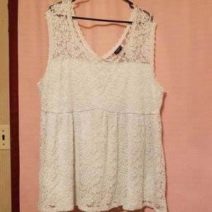 Sleeveless lacy baby doll top